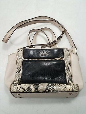 $ CDN12.75 • Buy Kate Spade NY Womens Tan/Black Cow/Goat Leather Crossbody & Hand Tote Purse
