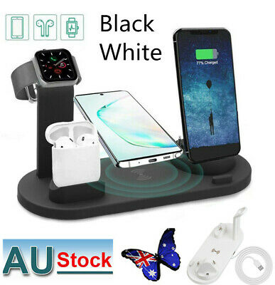 AU19.99 • Buy Wireless Charger Fast Charging Dock Stand For Airpods Apple Watch IPhone 3-in-1