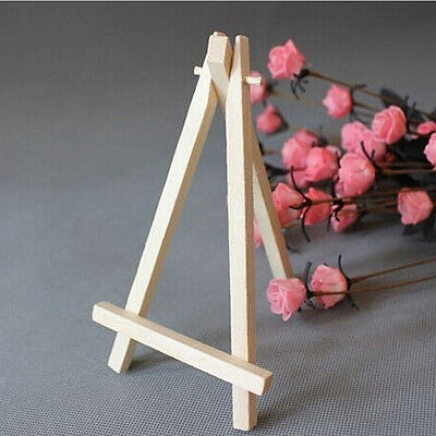 Mini Wooden Cafe Table Number Easel Wedding Place Name Card Holder Stand HR PZ • 4.32£