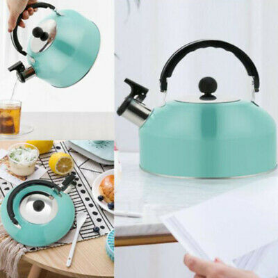 Stainless Steel Whistling Kettle 3L Stove Top Hob KitchenwareBDAU PZ • 11.91£