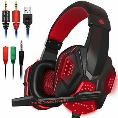 Gaming Headset For PC Laptop Gamer Skype Headphones With Mic • 16.49£