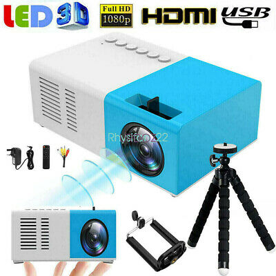 YG300PRO Mini Home Projector 1080P Full HD LED HDMI SD USB Theater Cinema Video • 32.59£