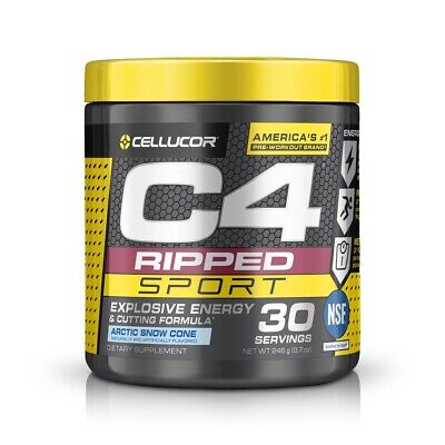AU40 • Buy Cellucor C4 Ripped Sport Pre Workout Artic Snow Cone 30 Servings 255g EXPRESS PO