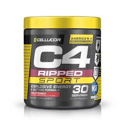 AU40 • Buy Cellucor C4 Ripped Sport Pre Workout Fruit Punch 30 Servings 255g EXPRESS POST