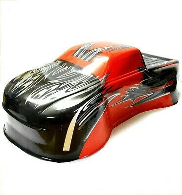 BS810-031R RC 1/8 Scale Monster Truck Body Shell Cover Red • 22.99£