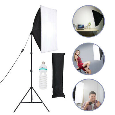 Photography Studio 135W Softbox Continuous Lighting Stand Kit Photo Video • 19.99£