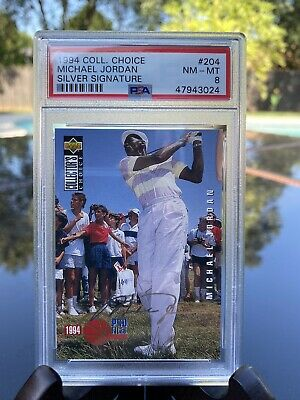 $45 • Buy 1994 Collectors Choice Silver Signature Michael Jordan #204 PSA8