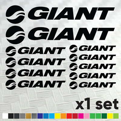 £4.99 • Buy GIANT Bicycle Bike Decals Stickers Cycle Bike Cycling Frame Mtb Bmx  - SET OF 12