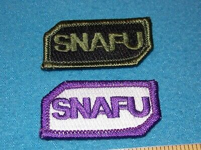 $5.95 • Buy Lot Of 2 Different - Military Snafu Embroidered Patches - Mint