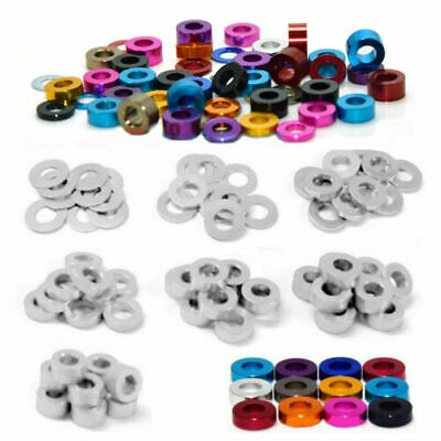 £3.49 • Buy M3 M4 M5 M6 Color Aluminum Alloy Flat Washers Gasket Round Spacer Model Anodized