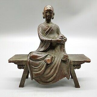 Oriental Antique Bronze Collection,large Bench Buddha,exquisite Craftsmanship  • 24.99£