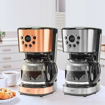 £27.95 • Buy Neo 1.5L Filter Coffee Maker Machine Automatic Setting Digital Timer 12 Cups