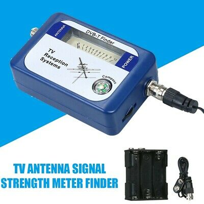 DVB-T Finder Digital Aerial Terrestrial TV Antenna Signal Strength Meter Finder • 8.99£