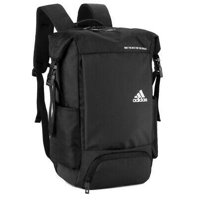 AU52.95 • Buy Adidas Travel School Bag Casual Backpack - Black