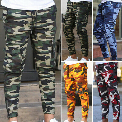 £15.99 • Buy New Mens Tracksuit Bottoms Casual Camouflage Gym Jogging Joggers Sweat Pants