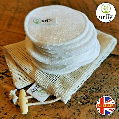 £9.99 • Buy Urffy - Reusable Make Up Remover Bamboo Cotton Pads Face Eco Organic Washable