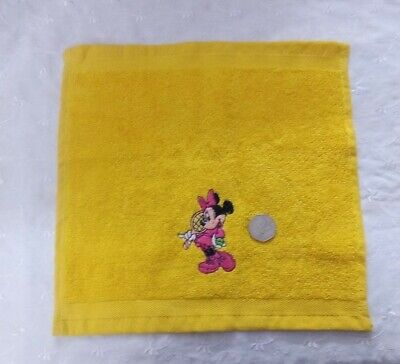 Embroidered Minnie Mouse Yellow Face Cloth / Flannel • 1.70£