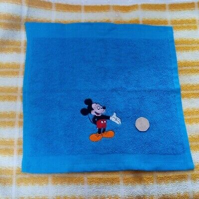 Embroidered Micky Mouse Blue Face Cloth / Flannel • 1.70£