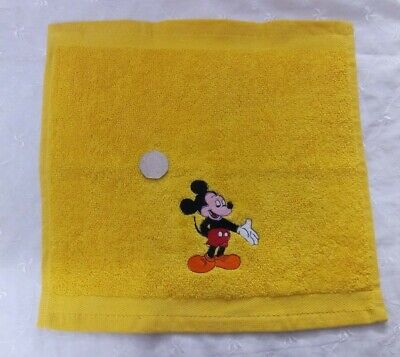 Embroidered Micky Mouse Yellow Face Cloth / Flannel • 1.70£