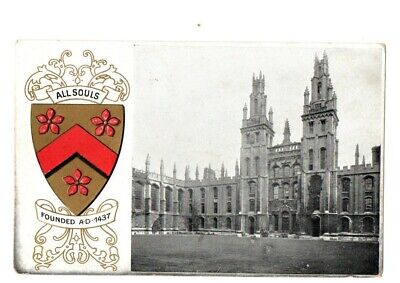 Postcard - All Souls College, Oxford, Embossed Crest And Building. • 2£