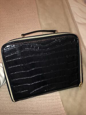 Black Girly Fake Crocodile Briefcase • 0.99£