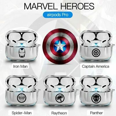 AU8.96 • Buy MARVEL AVENGERS Silicone Protective Case Cover For IPhone Airpods 1 2 Pro Skin