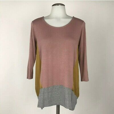 $ CDN38.21 • Buy Anthropologie Dolan Colorblock Knit Top Large