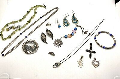 $ CDN1.27 • Buy Lot Of Sterling Silver Vintage And Estate Find Jewelry