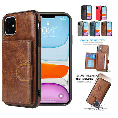 AU12.88 • Buy For IPhone 12 11 Pro Max XR XS X 8 7 6 Plus SE2 Card Holder Leather Flip Case
