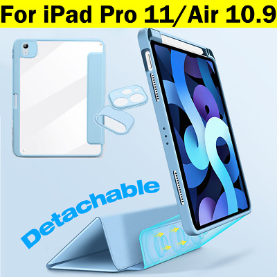 AU42.95 • Buy IPad Air4 Case 10.9 2020 IPad Pro 11 12.9 Magnetic Smart Silicone Cover Pen Grip