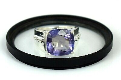 AU460.44 • Buy 925 Sterling Silver 11.89 Ct Natural Russian Alexandrite Ring With Accents