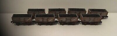 8 N Gauge Peco Steel Coal Wagons. Loaded Compatible With Farish And Dapol. A • 76.49£