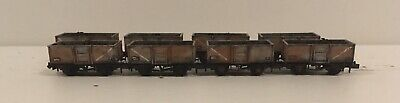8 N Gauge Peco Steel Coal Wagons. Loaded Compatible With Farish And Dapol. B. • 76.49£