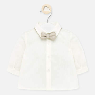 £9.95 • Buy New Mayoral Baby Boys Cream Shirt With Bow Tie Fit 18  Months (1142)