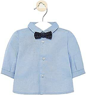 £10 • Buy Mayoral Baby Boys Long Sleeve Formal Shirt With Bow-tie (style 1142)