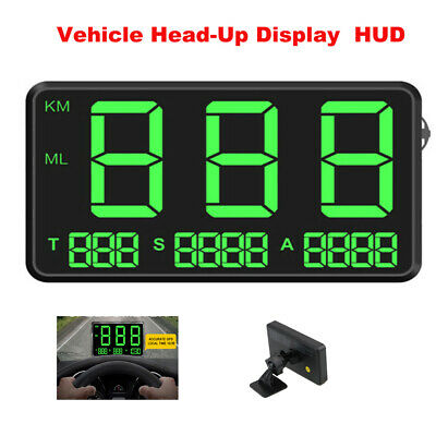 Head-Up Display Car Truck HUD Speed Warning GPS Speedometer Time Projector LCD; • 24.36£
