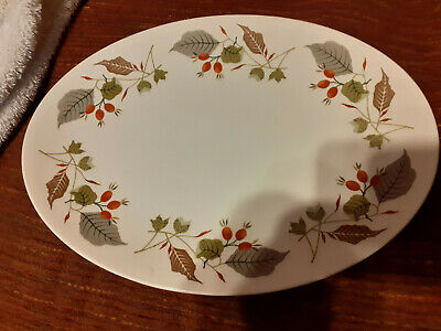 Vintage Staffordshire Gaywood By Ridgway Oval Serving Platter 12  Long • 1.99£