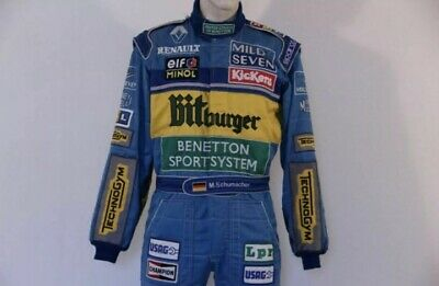 £60 • Buy F1 Michael Schumacher 1995 Printed Race Suit,In All Sizes