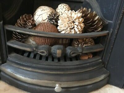 Cast Iron Fireplace / Insert Fireback And Grate- Victorian Style • 200£