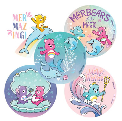 £2.42 • Buy 25 Care Bears Mermazing Stickers, 2.5  X 2.5  Each, Party Favors