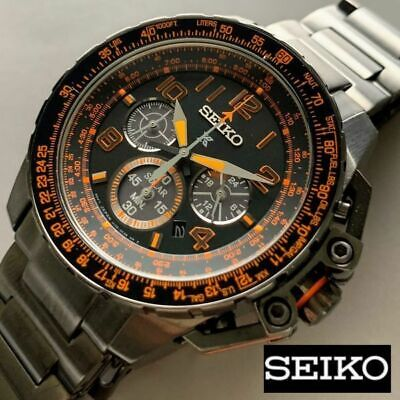 $ CDN556.66 • Buy Seiko Prospex Chronograph Solar Men's Watch Pilot Type