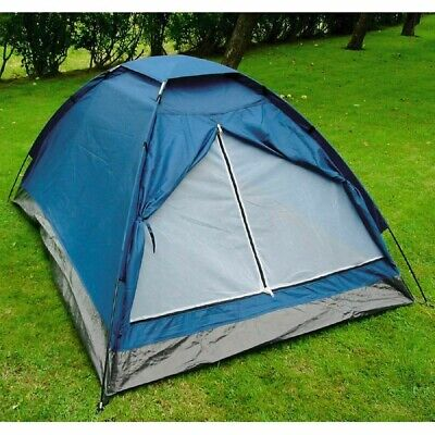 2 Person Waterproof Camping Tent Berth Dome Lightweight Festival Outdoor Blue • 38.48£