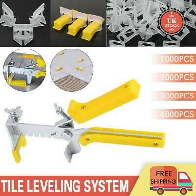 4000PCS Tile Leveling Spacer System Tool Clips Wedges Flooring Lippage Plier New • 12.99£