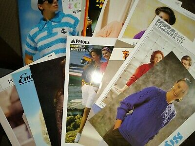 15 Knitting Patterns & Wendy Book   -   Sweaters,jackets,    Etc  Job Lot • 1.99£
