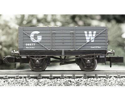 Dapol N Gauge 2F-071-014 7-Plank Wagon - GWR - Box Shelf Worn • 9£