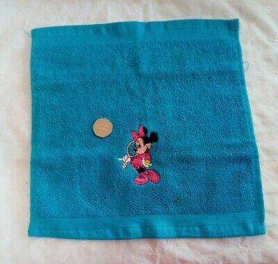 Embroidered Minnie Mouse Blue Face Cloth / Flannel • 1.70£