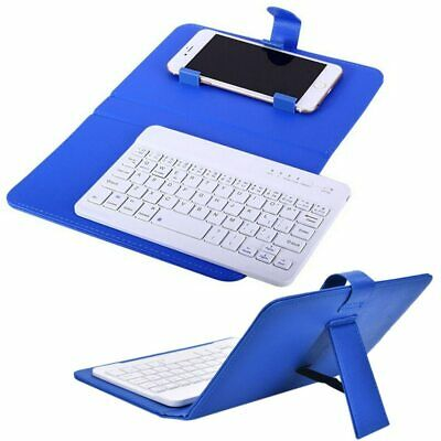 Mini Portable Leather Wireless Bluetooth Keyboard For IPhone Android Smartphone • 21.99£