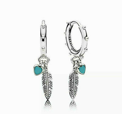 Genuine PANDORA Spiritual Feathers Drop Earrings 297205EN168 S925 ALE  • 17.99£