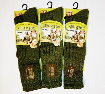 £7.98 • Buy Mens Army Long Military Thermal Warm Thick Winter Socks Olive Size 6-11 3 Pairs