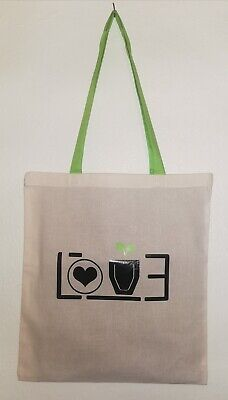 Shopping Bag Bright Tote Long Handle Bag For Life Cotton  • 3.99£